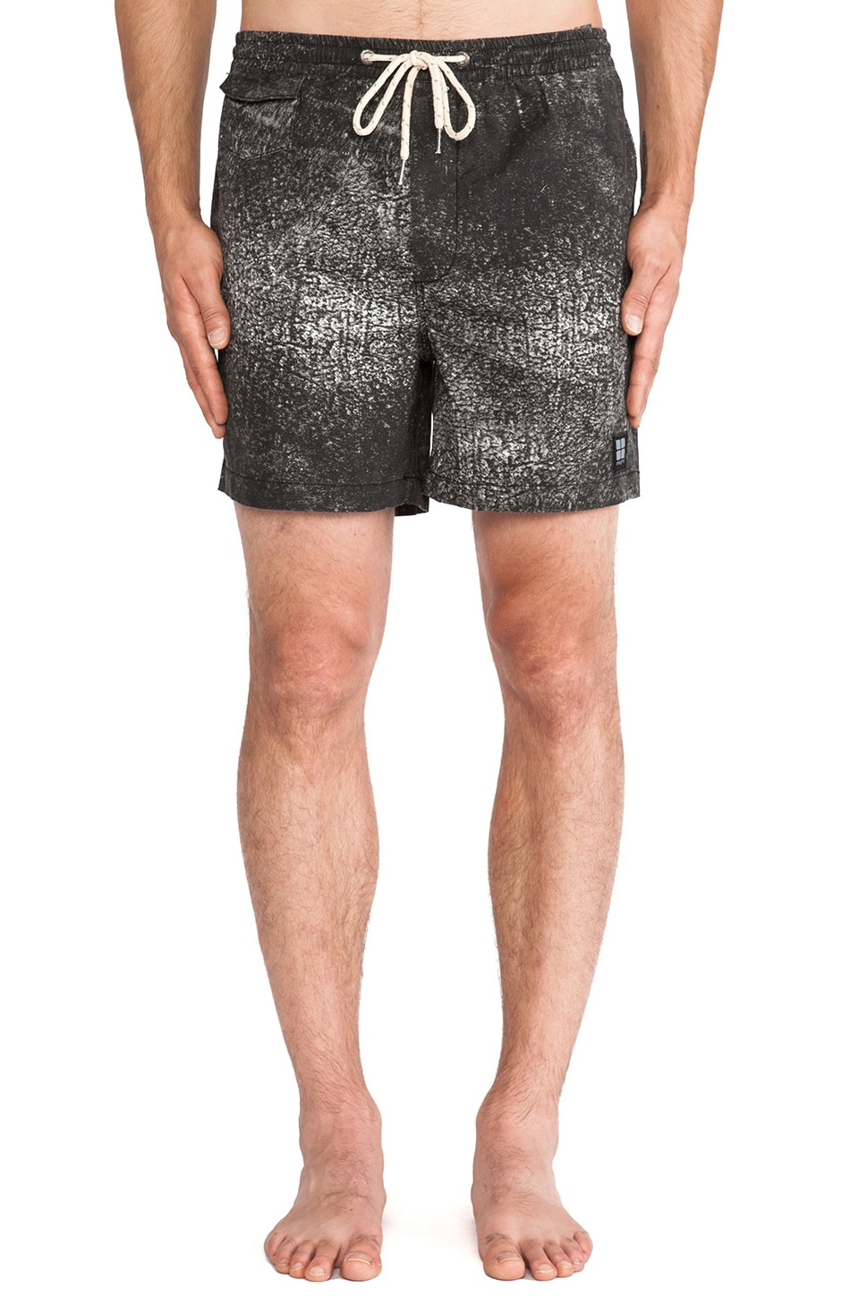 Insight Shark Beach Short in Shark black