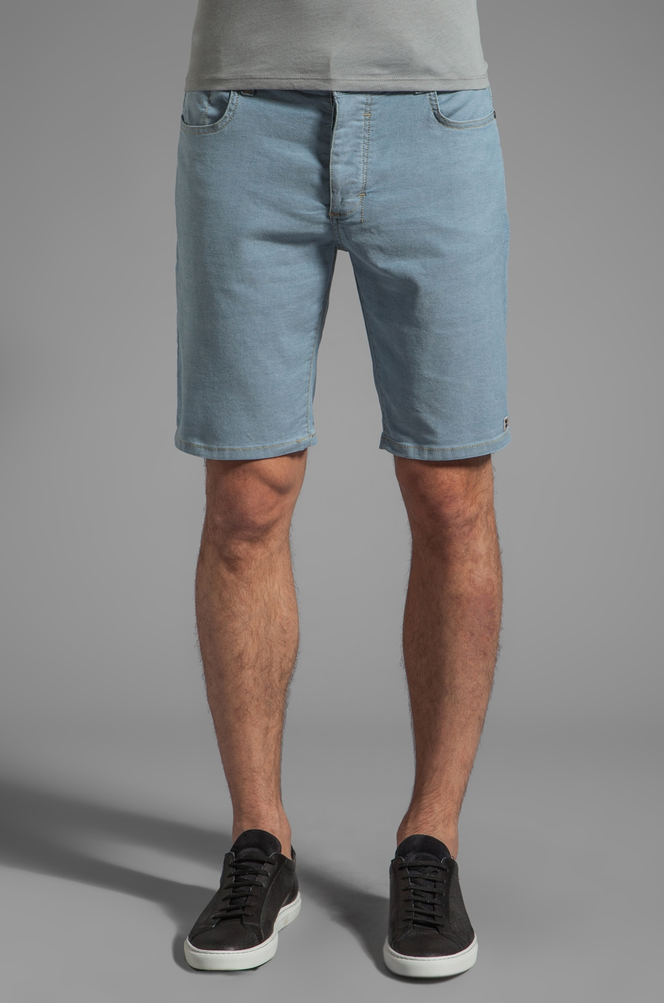 Insight Oh Zone Denim Short in Bleached Blue Classic