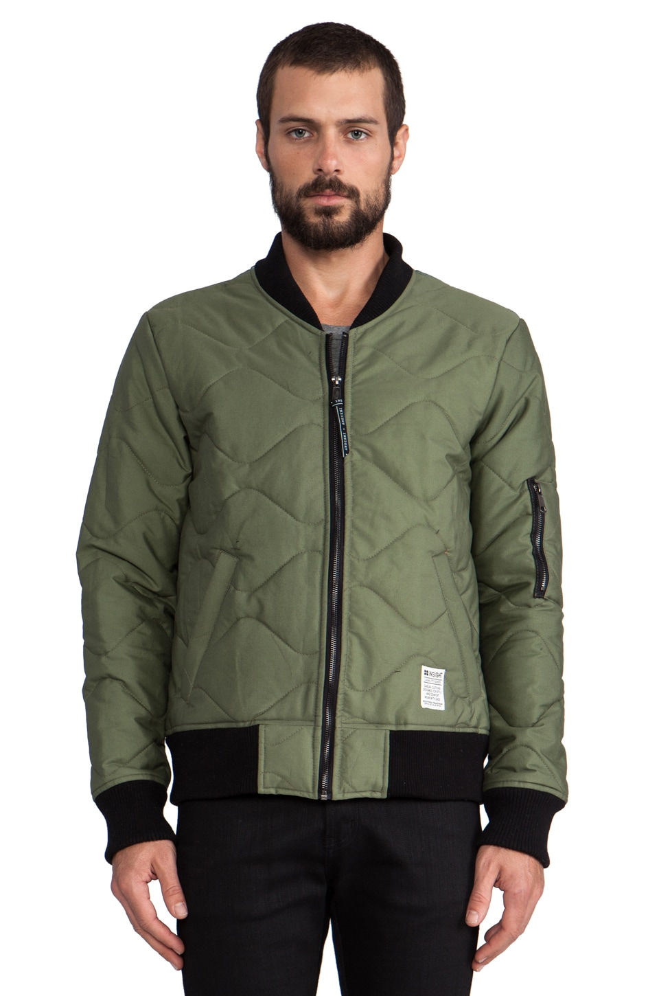 Insight Mega Hetch Bomber Jacket in Kool G Khaki