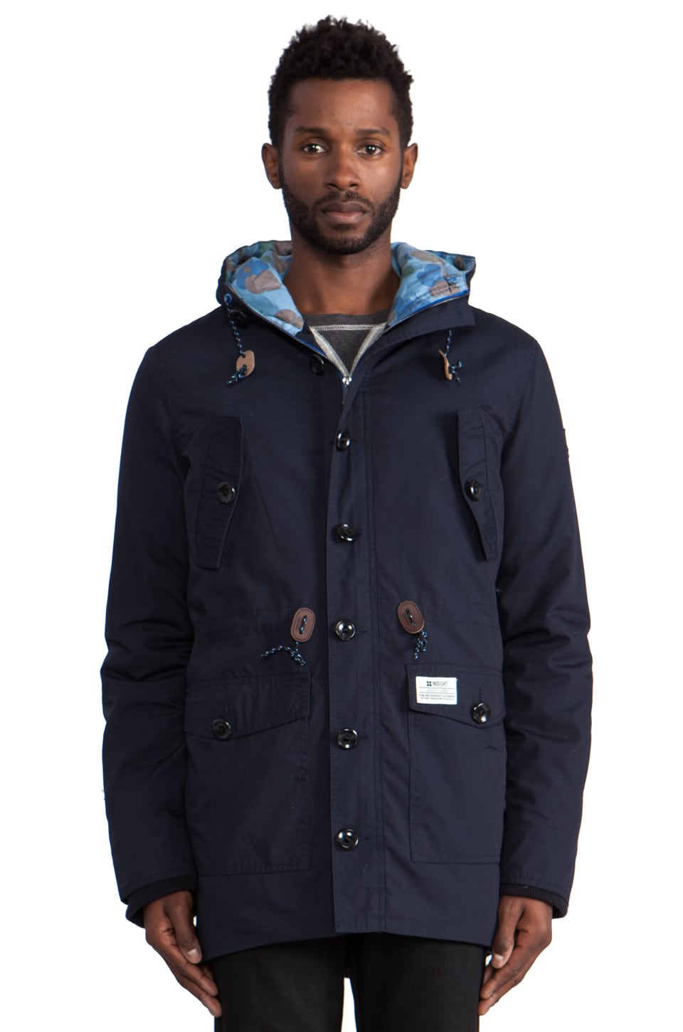 Insight Rain Maker Jacket in Black Out Blue
