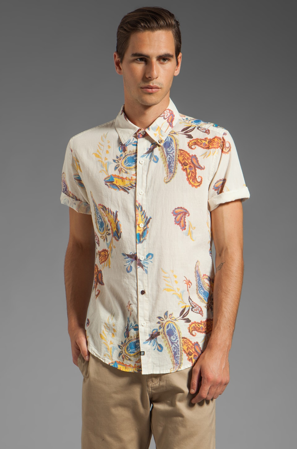 Insight Island Hop Short Sleeve Shirt in Dusted