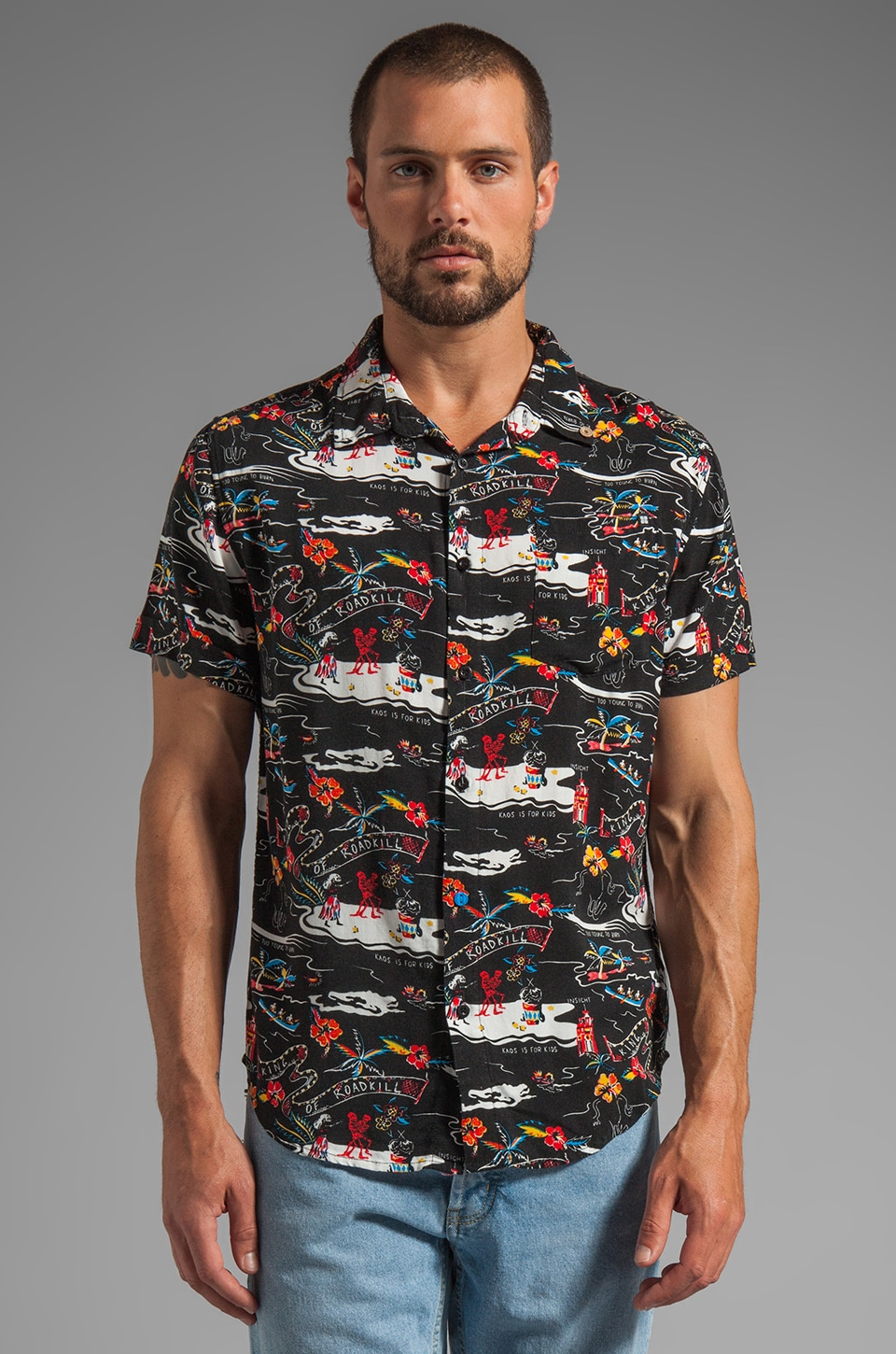 Insight Kaos For Fun S/S Shirt in Floyd Black