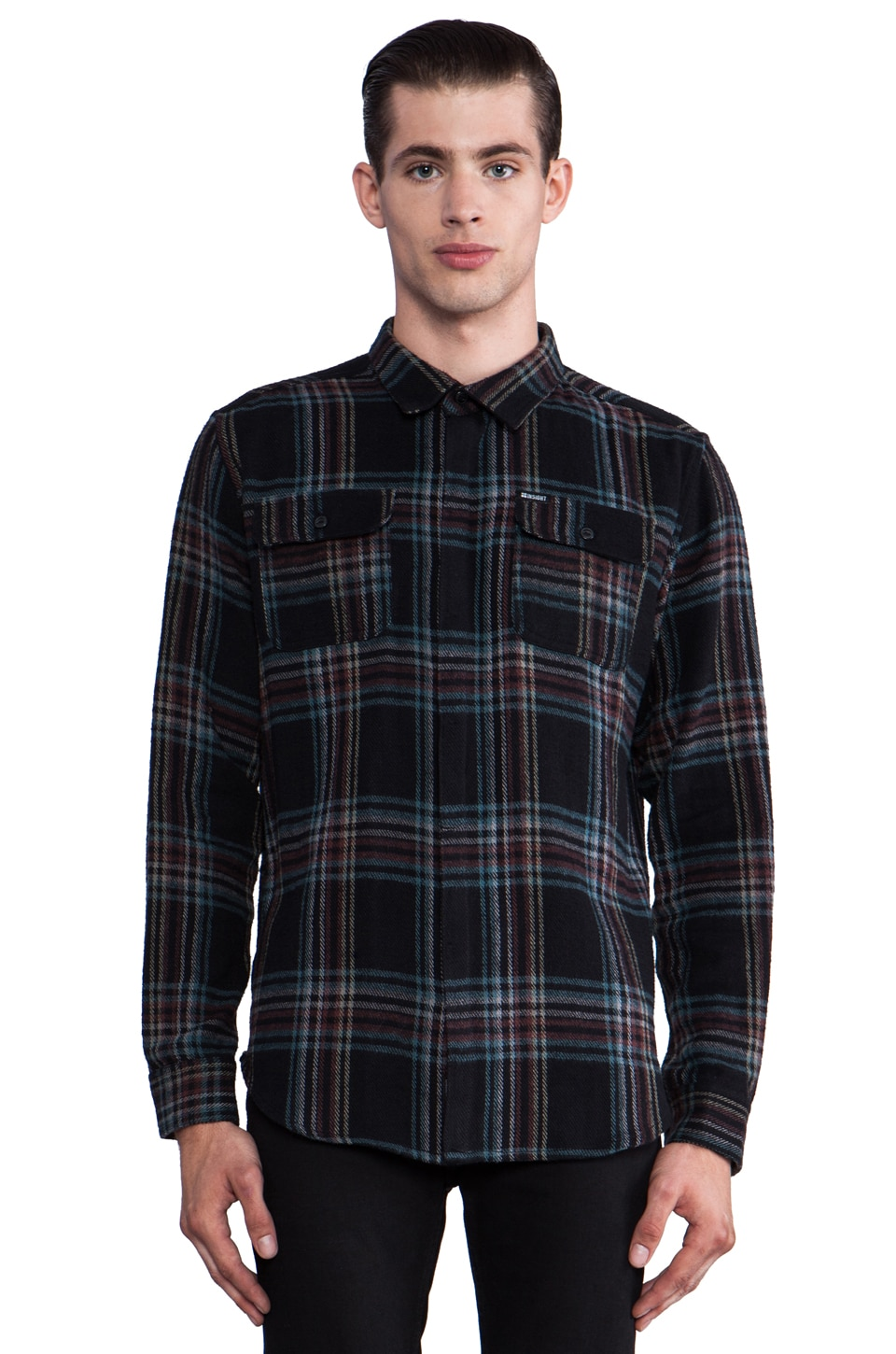 Insight Cush Button Down in Black Out Blue
