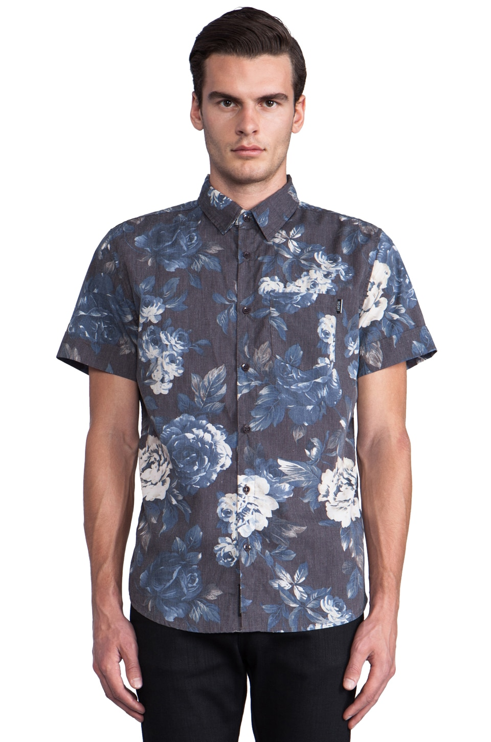Insight Cheeba Cheeba Button Down in Black Out Blue