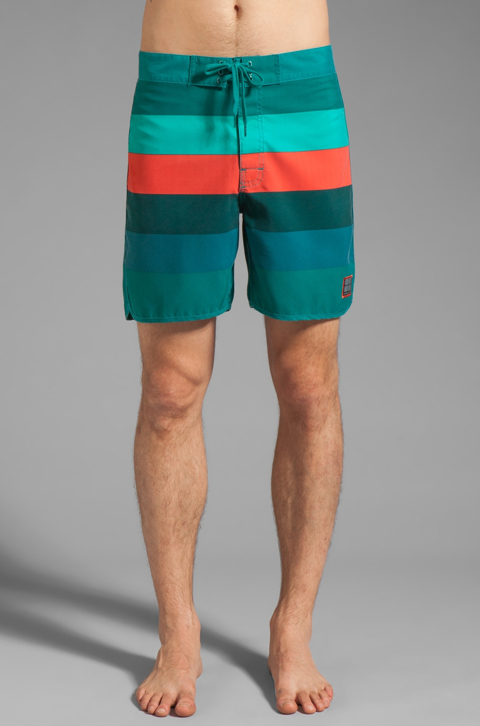Insight Retro Stud Mid Boardshort in Unjaded
