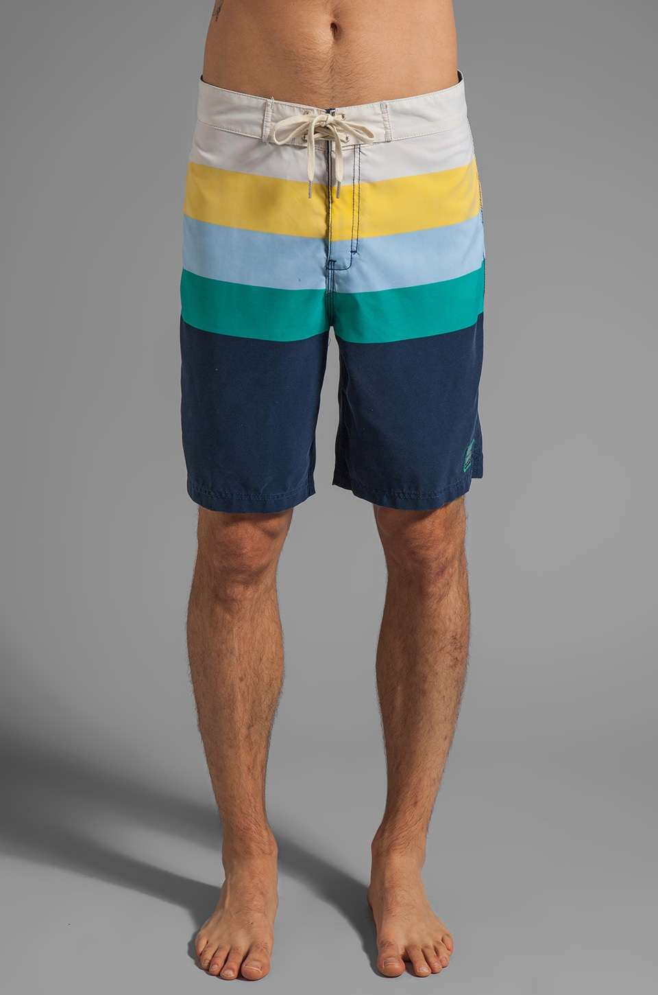 Insight Retro Daze Mid Boardshort in Black Out Blue