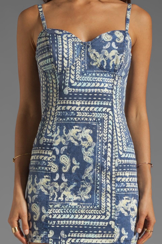 Insight Bandana Dress in Indigo Paisley
