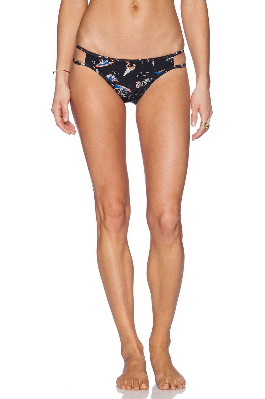 Insight Cut Out Blind Bikini Bottom in Apocalypso Black