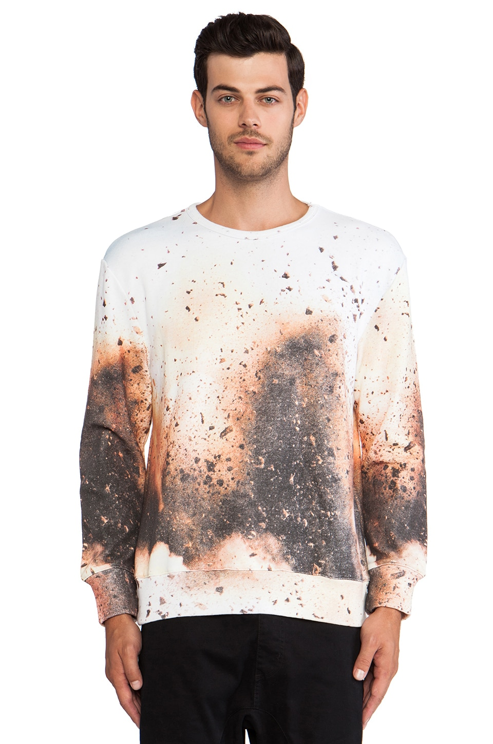 INSTED WE SMILE Dirt Sweater in Blue/Brown