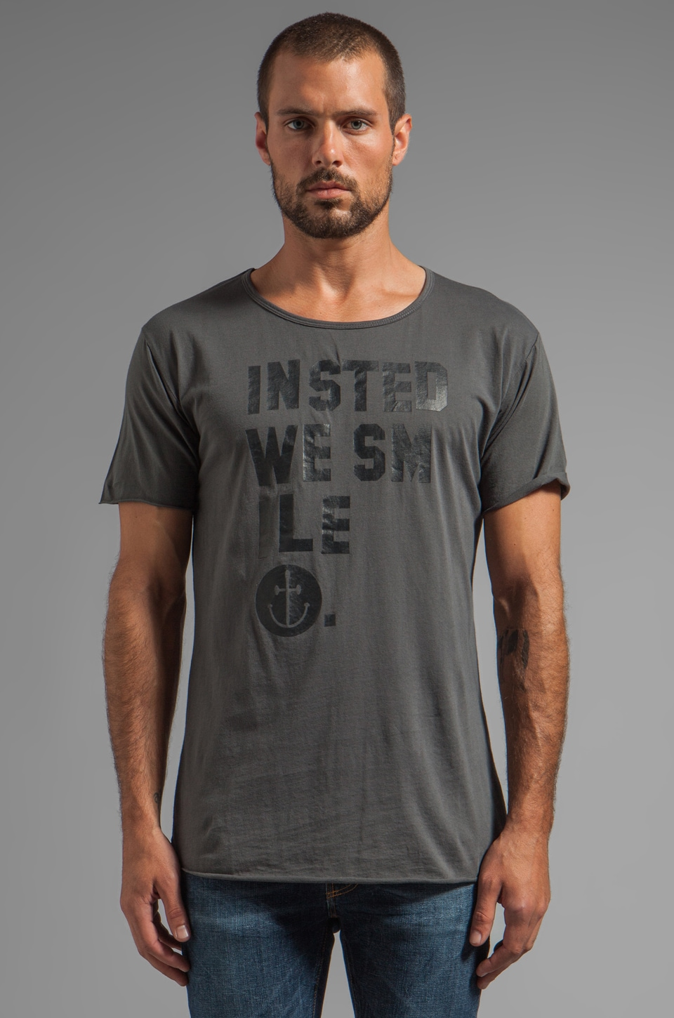 INSTED WE SMILE IWS Smile Tee in Aged Black