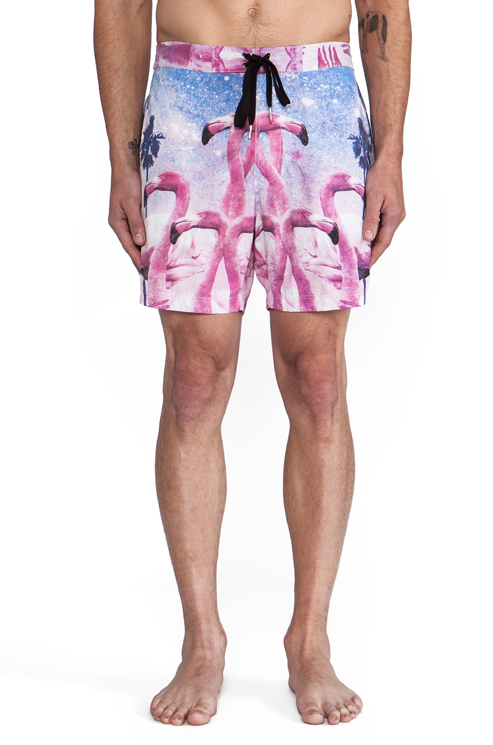 INSTED WE SMILE Flamingo in Love Short in Multi