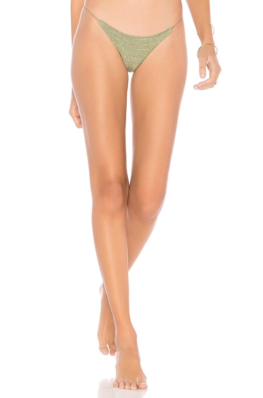 IN YOUR ARMS Minimal Bikini Bottom in Green