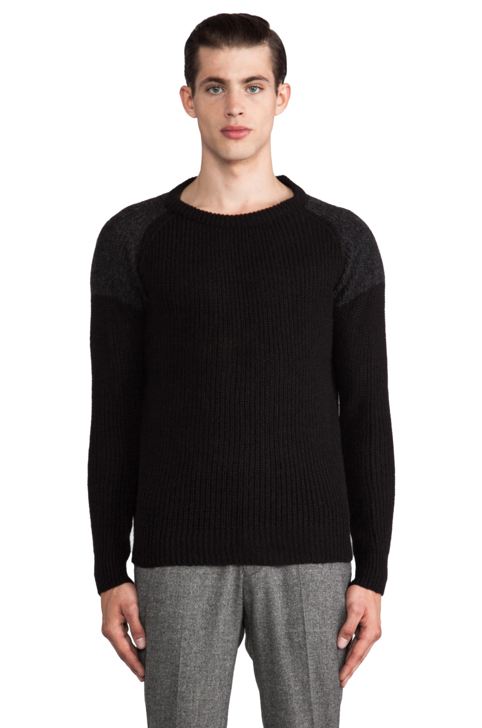 IRO King Sweater in Anthracite/Noir