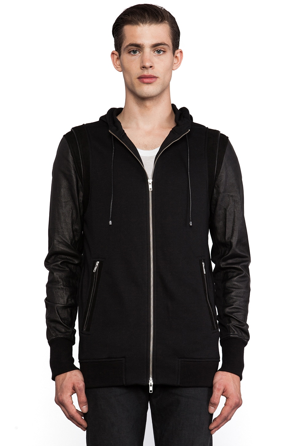 IRO Jerusha Sweatshirt Jacket in Black