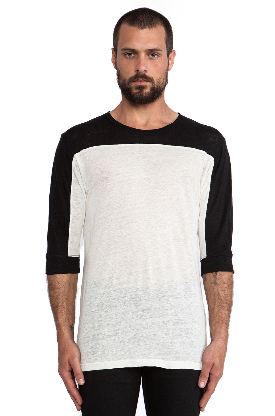 IRO Agnel T-Shirt in Black & Off White