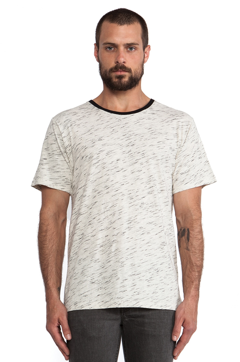 IRO Leo T-Shirt in Mixed Ecru