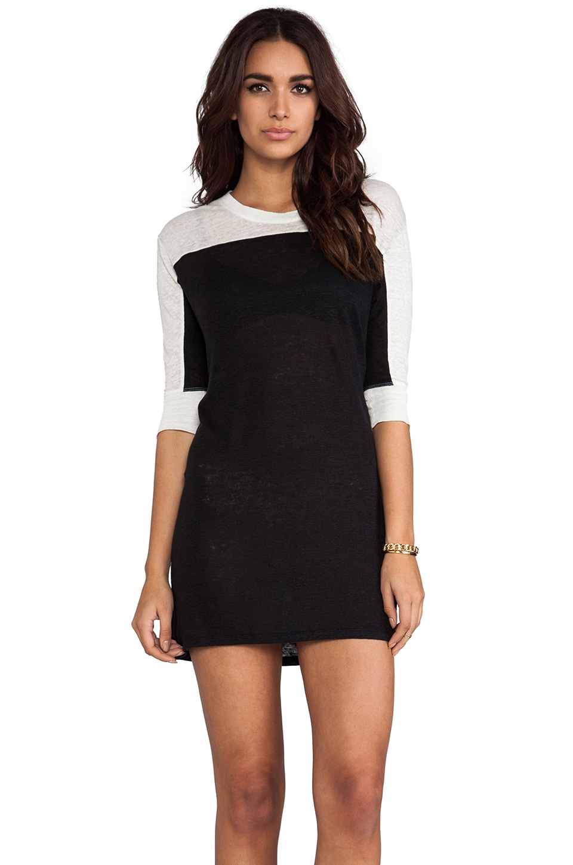 IRO Carolyn Dress in Black & Off White