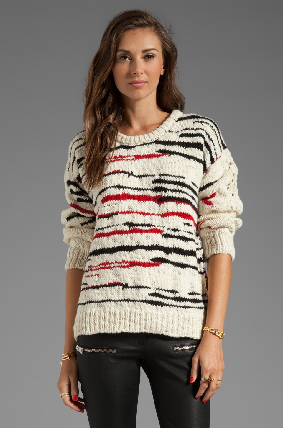 IRO Dara Pull Maille Sweater in Ecru