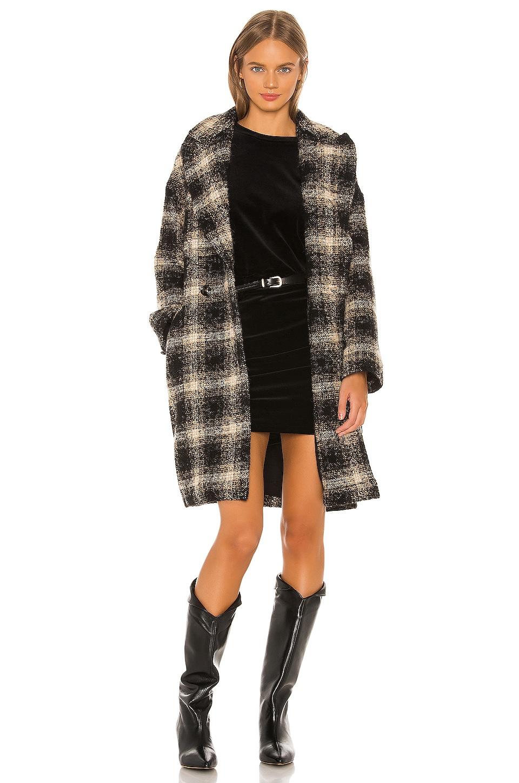 IRO Karsh Coat in Black & Ecru