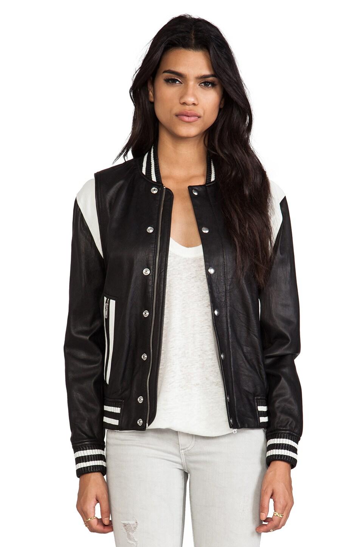 IRO Vanny Jacket in Black & Ecru