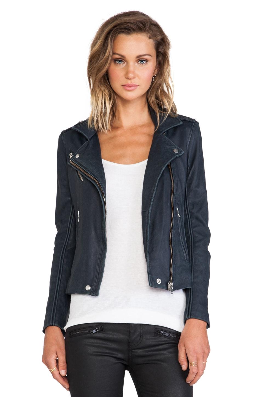 IRO Tara Moto Jacket in Navy
