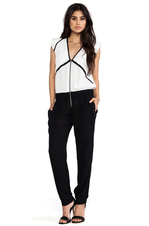 IRO Carlee Jumpsuit in White & Black