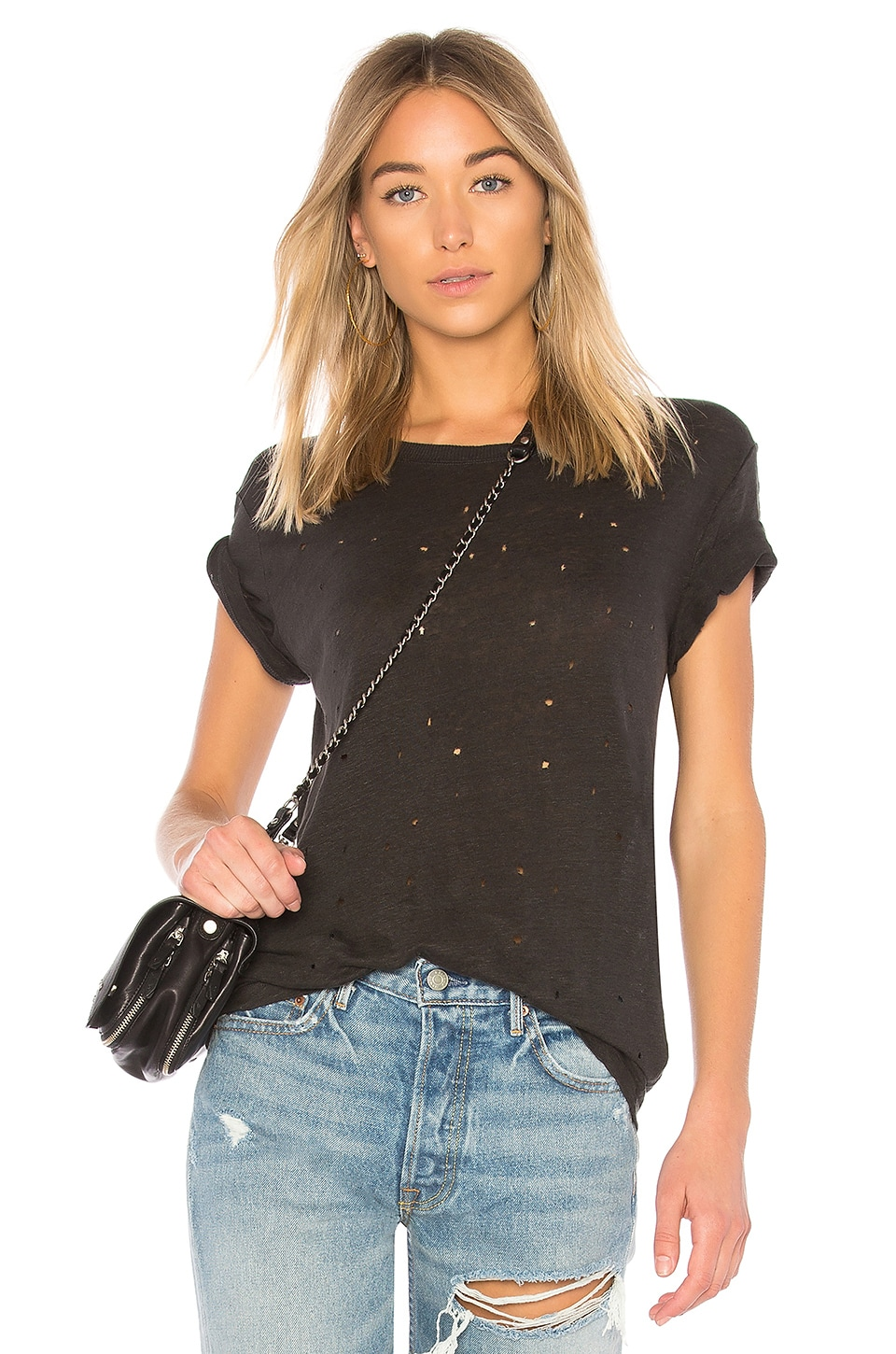 IRO Clay Tee in Anthracite