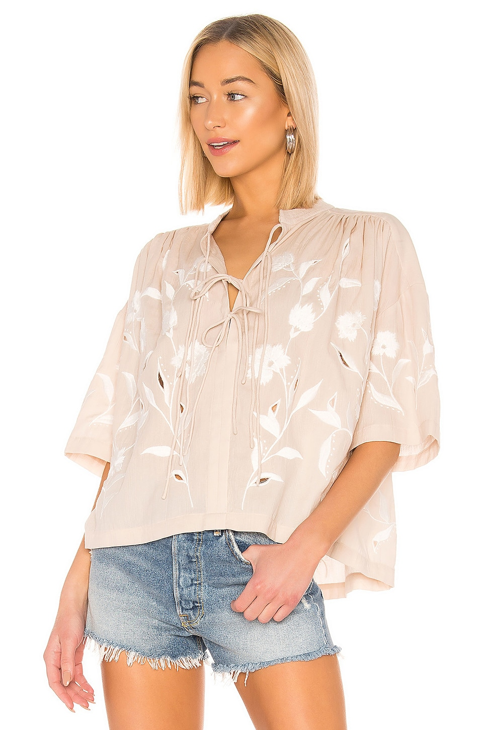 IRO Hiba Blouse in Nude