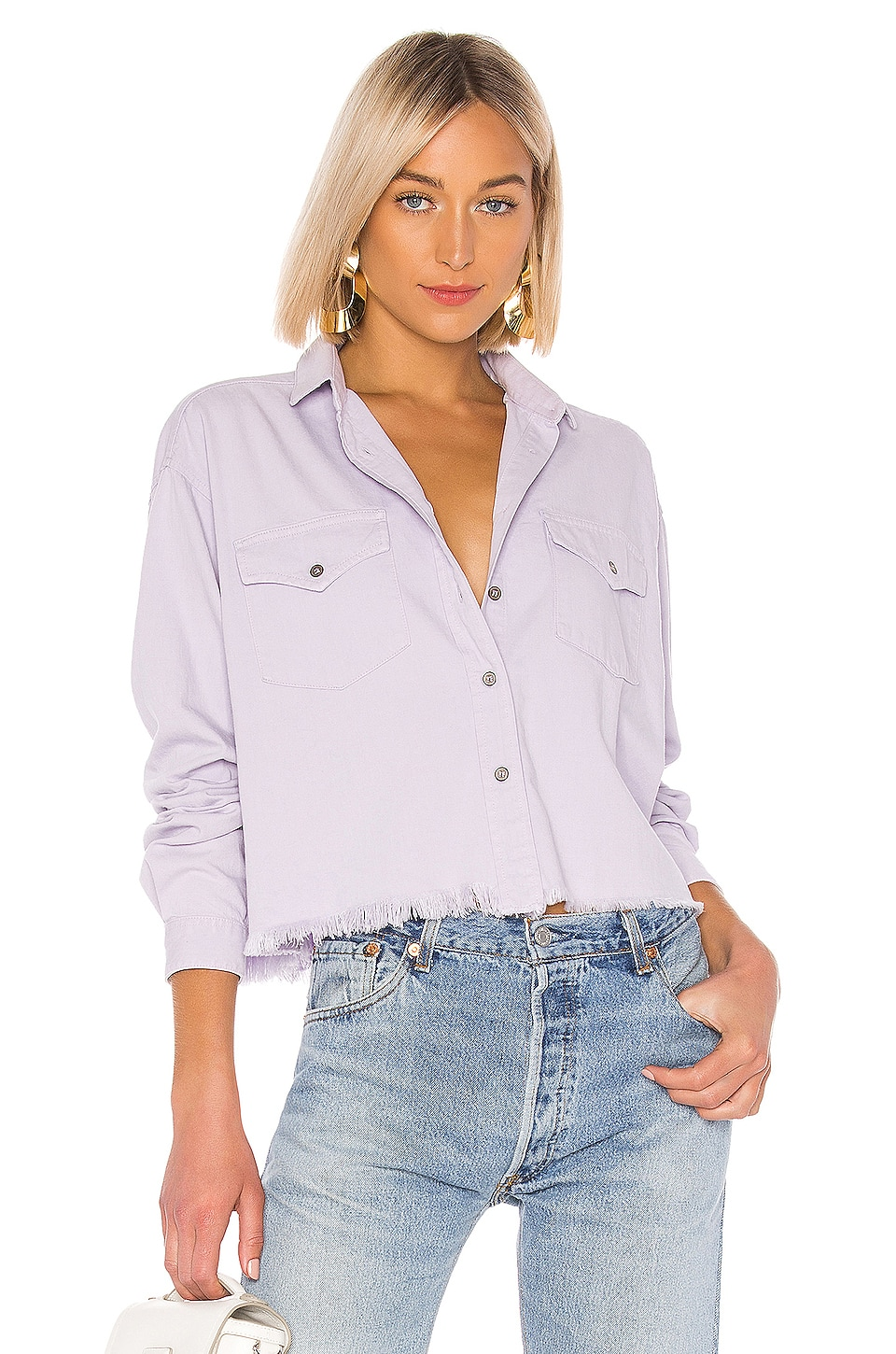 IRO Myles Top in Lilas