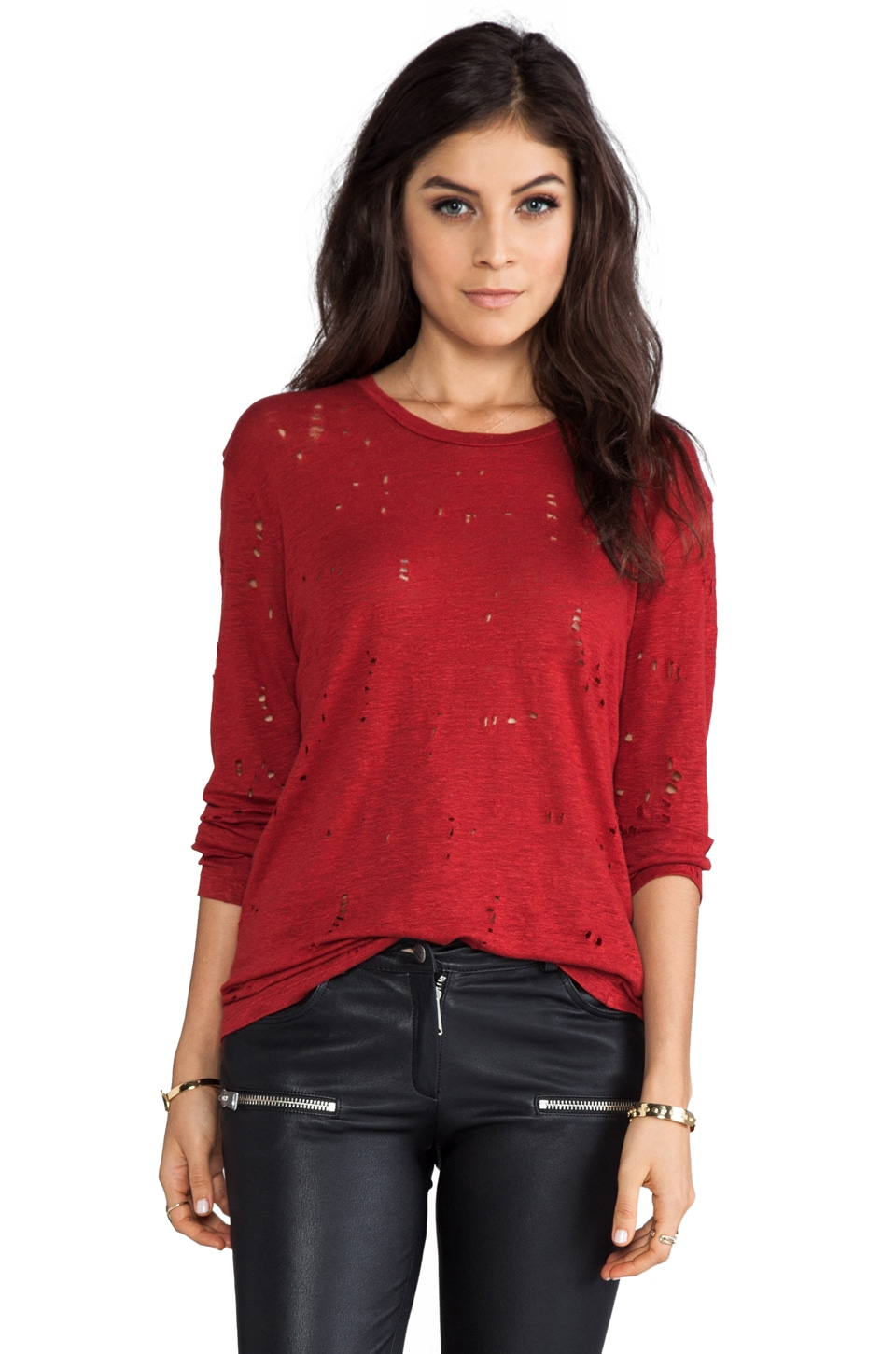IRO Marvina Top in Rouge