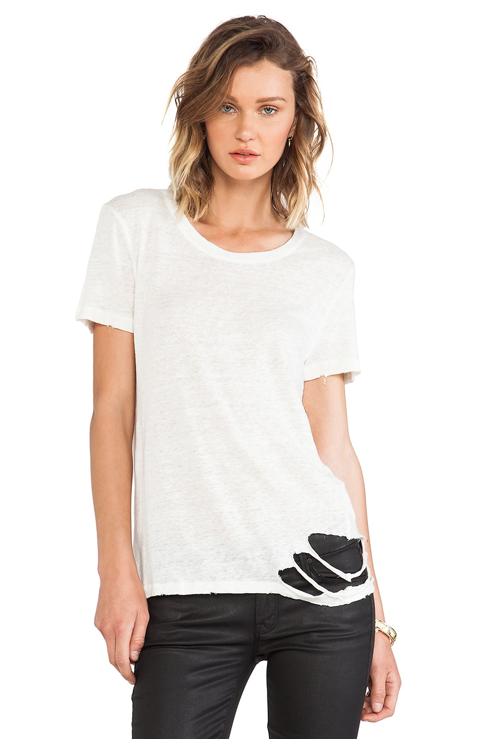 IRO Poppy Tee in Ecru