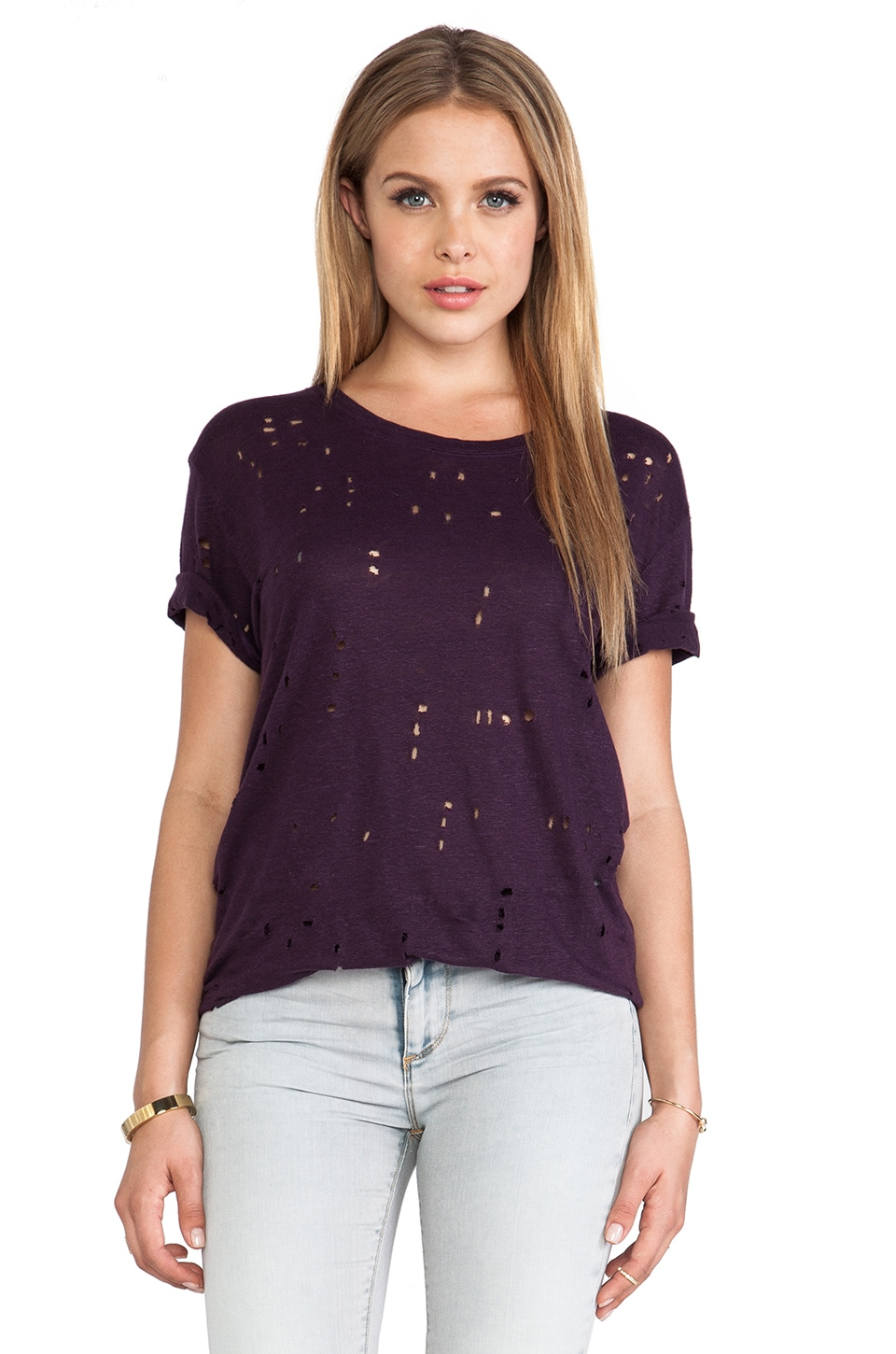 IRO Clay Tee in Dark Purple