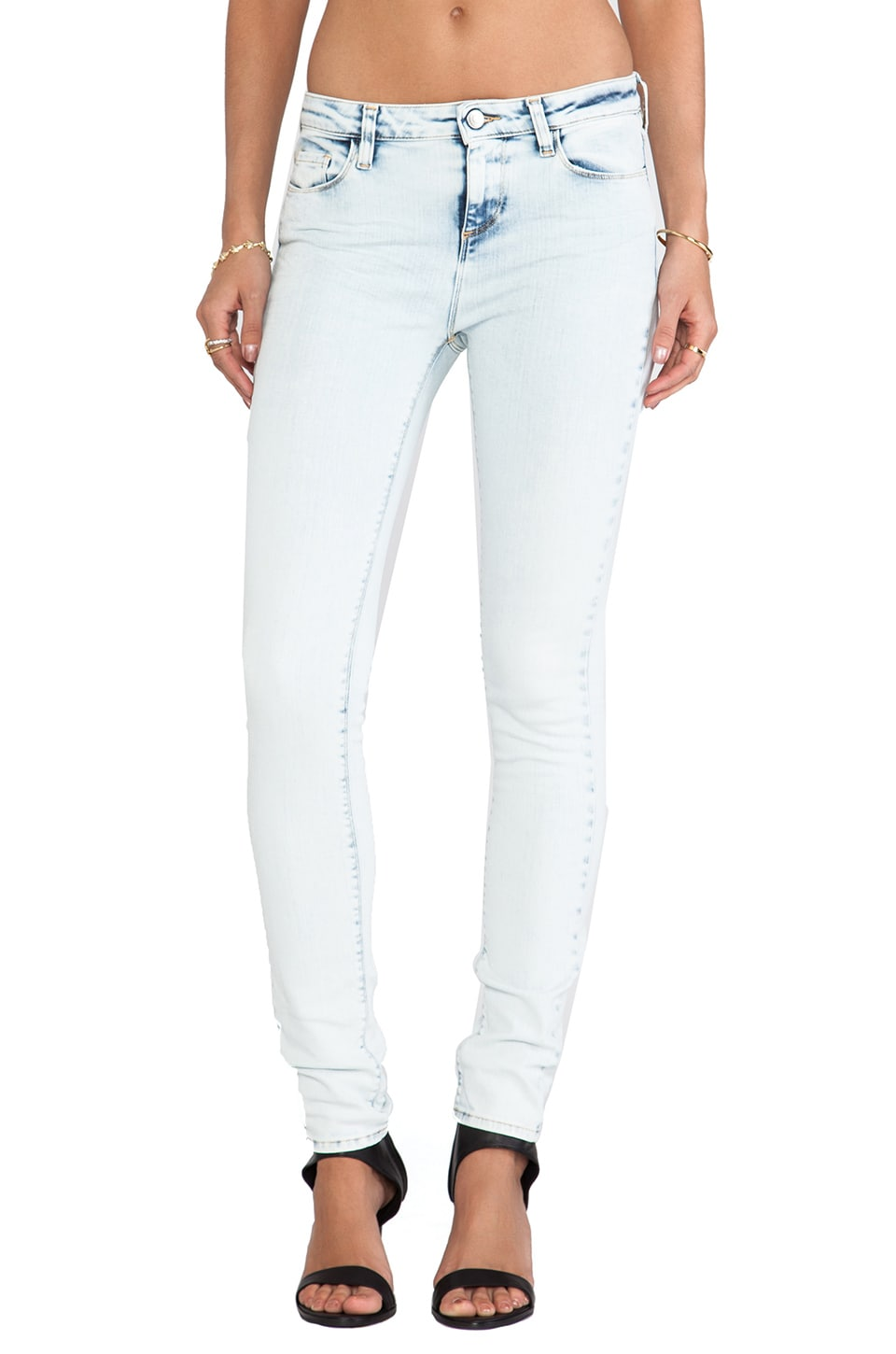 IRO . JEANS Kinsey Fitte Mid Rise in Light Blue