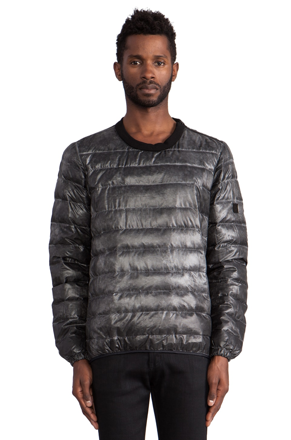 ISAORA Down Pullover in Charcoal