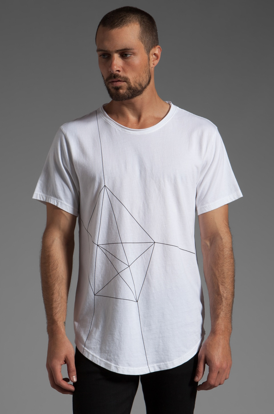 ISAORA Geo Light Printed T-Shirt in White