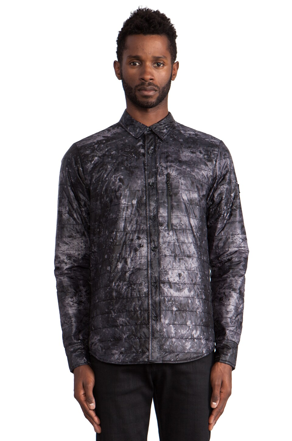 ISAORA Digital Sky Insulated Shirt in Charcoal