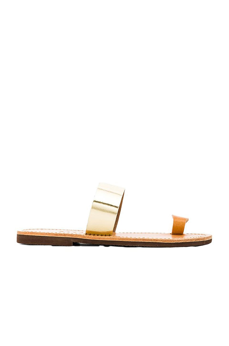 isapera Elia Sandal in Gold