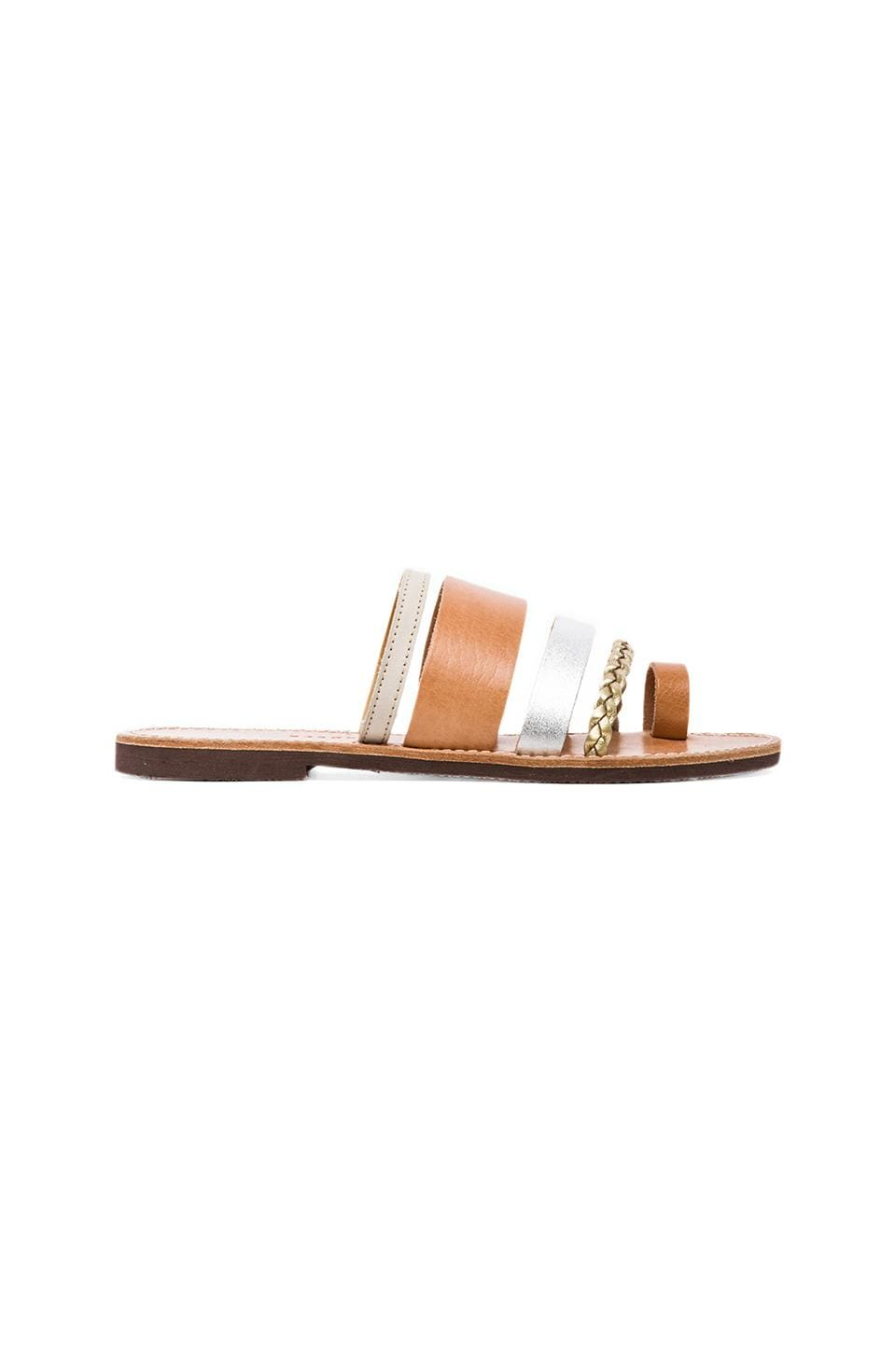 isapera Gerbera Sandal in Metallic Mix