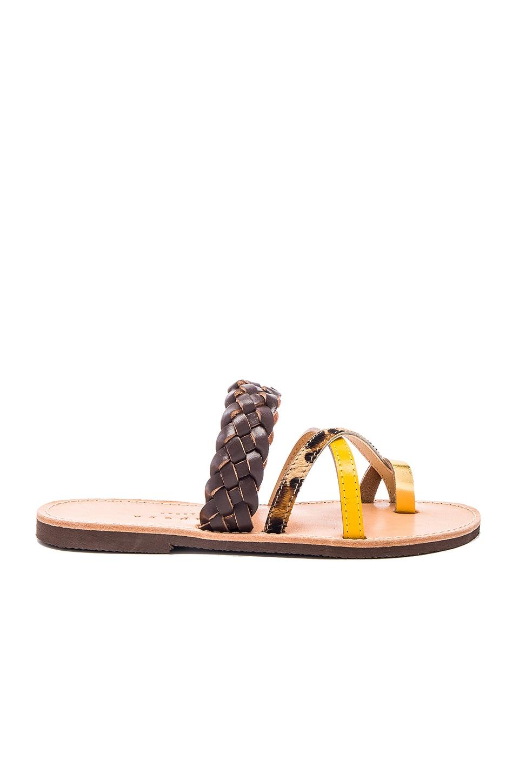 Ftelia Calf Hair Sandal at REVOLVE