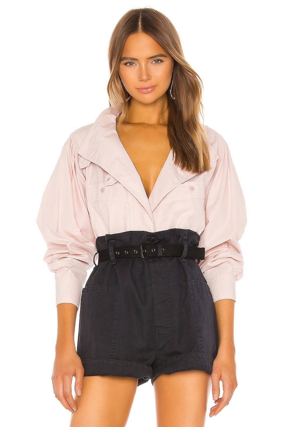 Isabel Marant Etoile Mahonia Blouse in Light Pink