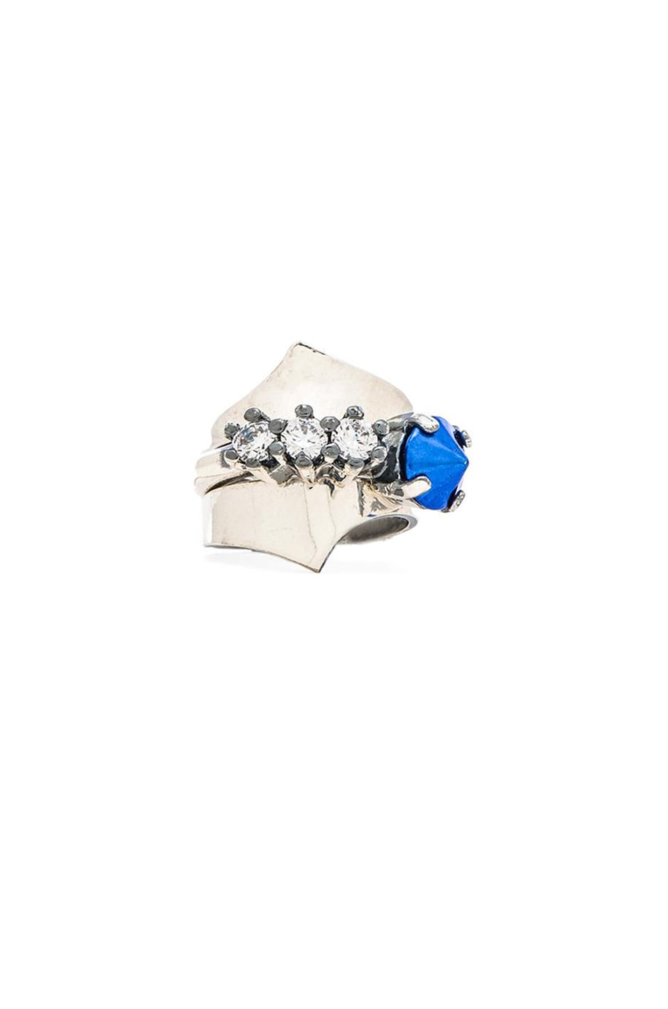 Iosselliani Ring Set in Silver & Blue