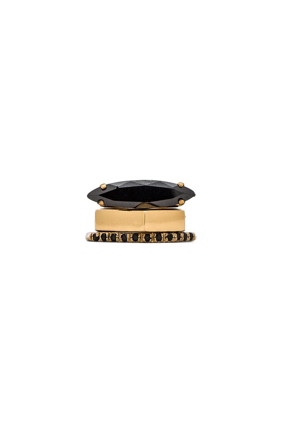 Iosselliani Ring in Gold & Black