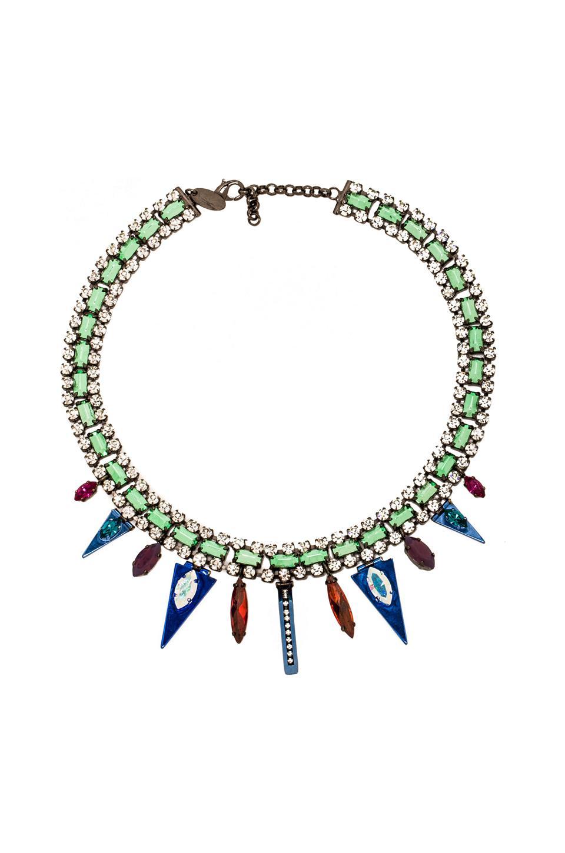 Iosselliani Triangle Collar Necklace in Silver
