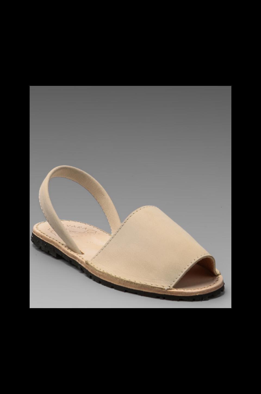 Ishvara Albarcas Nubuck Sandal in Linen