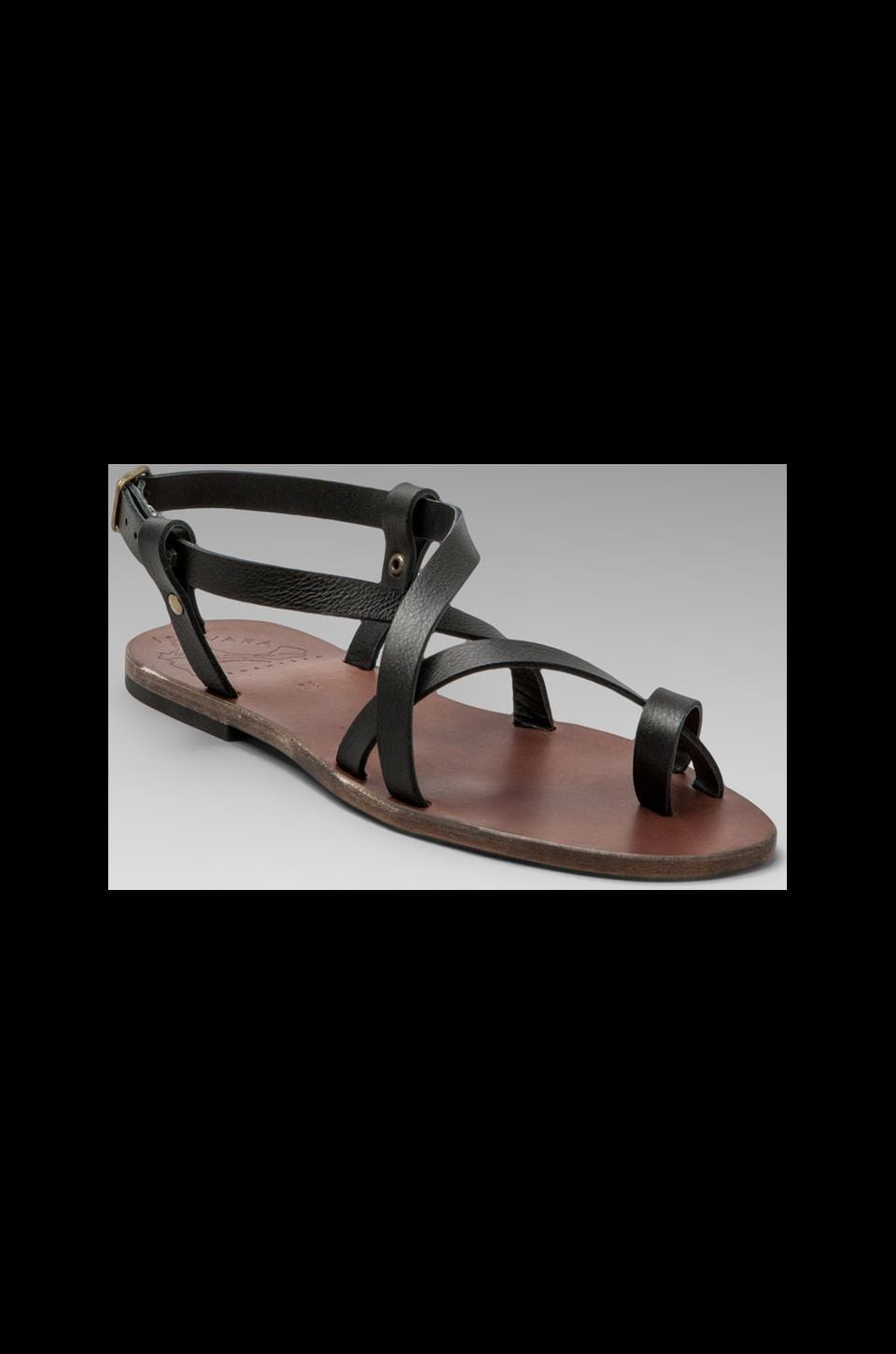 Ishvara Leather Ibiza Sandal in Black