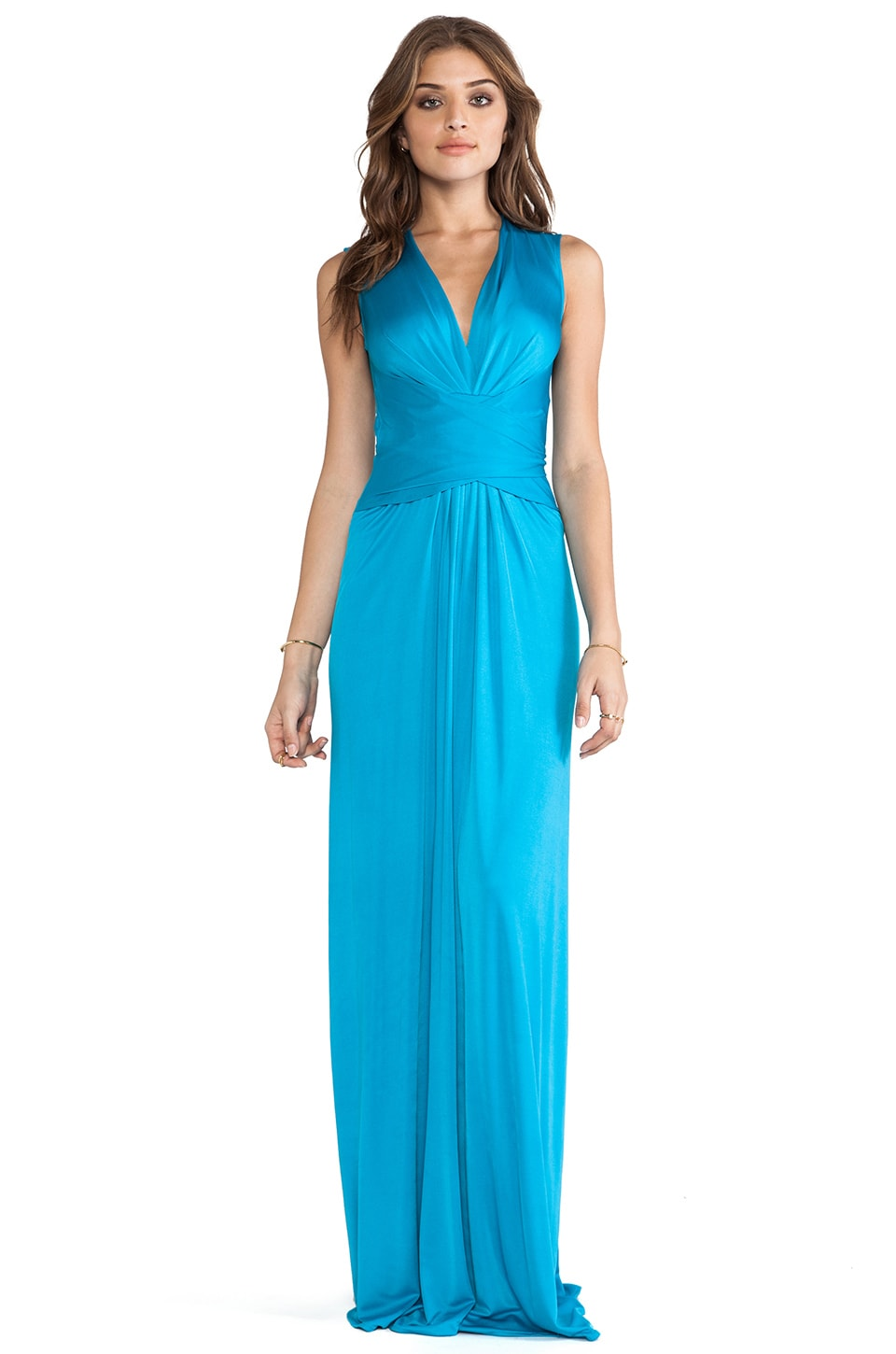 Issa Sleeveless Wrap Maxi Dress in Lapis