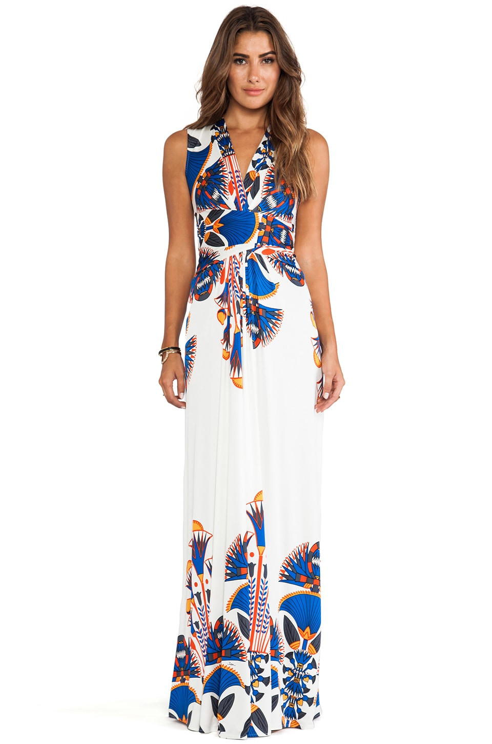 Issa Sleeveless Wrap Maxi Dress in Sapphire