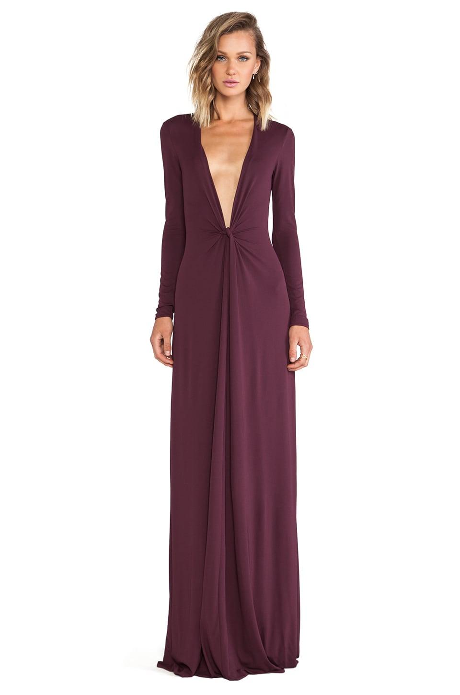 Issa Cilla Maxi Dress in Bordeaux   REVOLVE