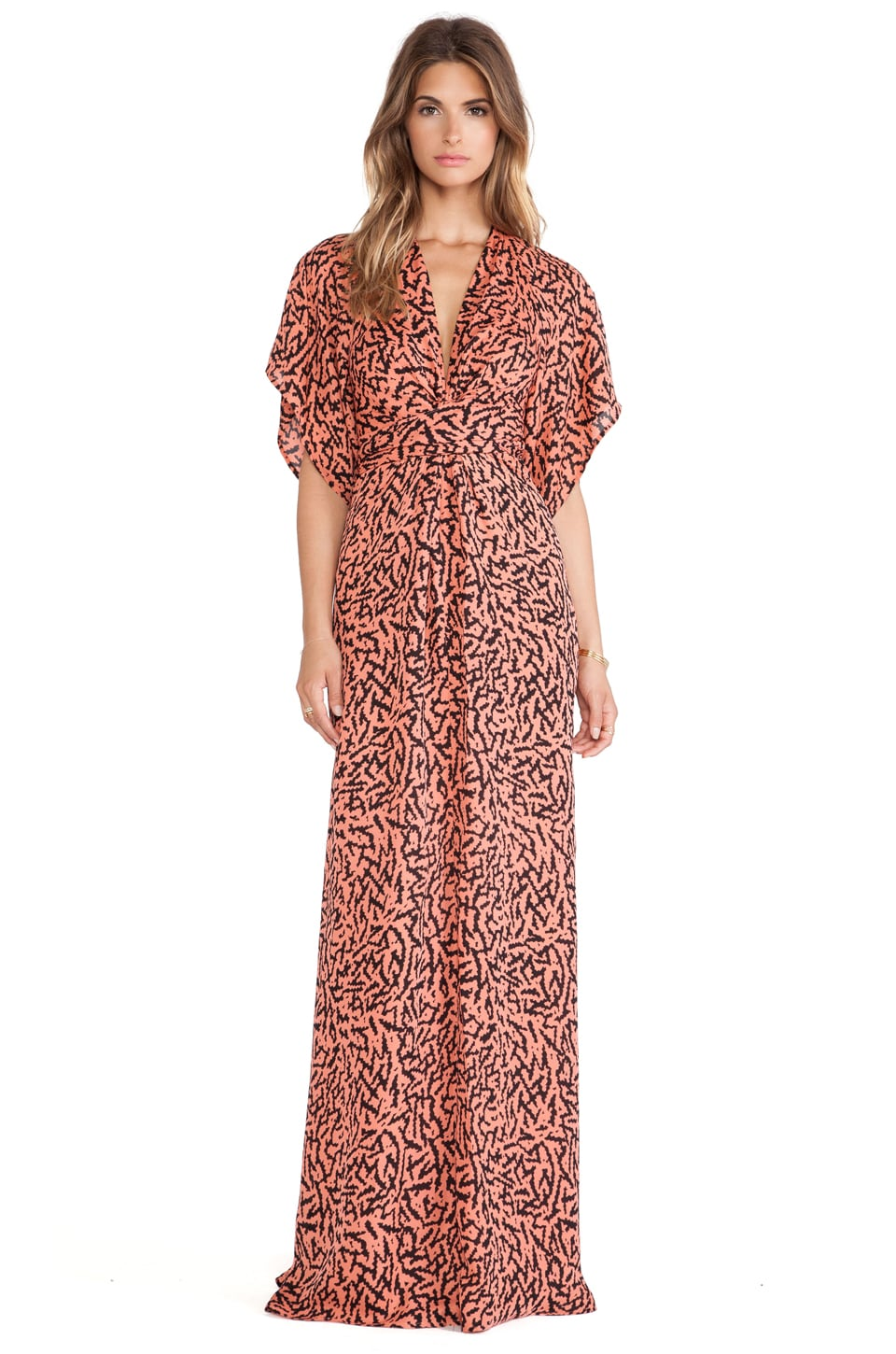Issa Pollyanna Wrap Maxi Dress in Rouge