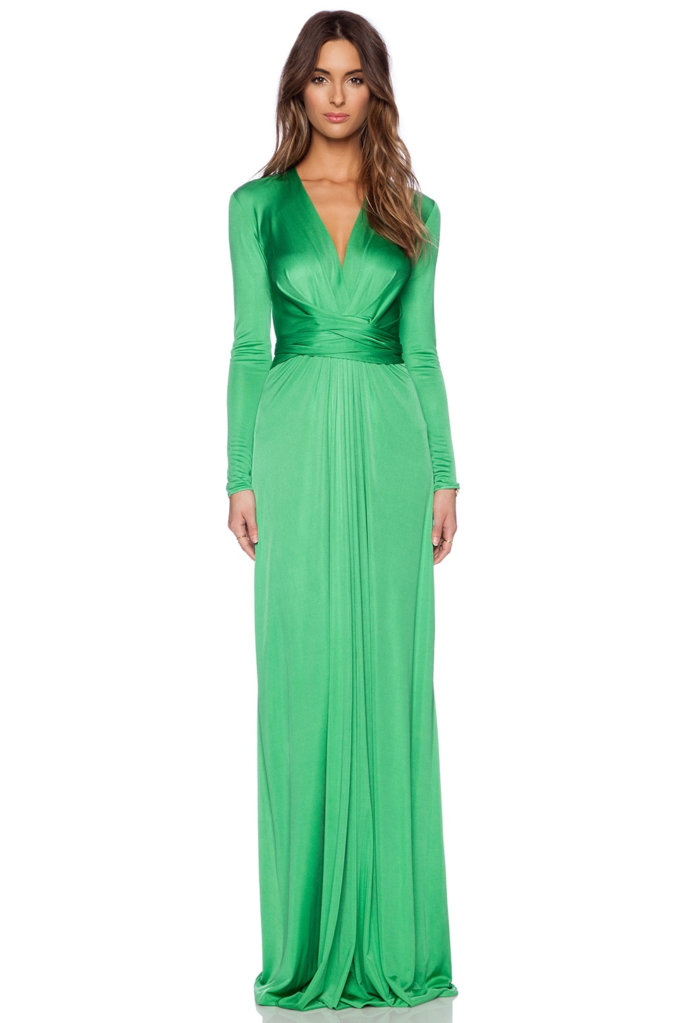Issa Florence Maxi Dress in Green Glow